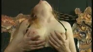 Hot milf with big tits is fucking her son's best friend while his girlfriend is forced to watch