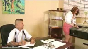 Veronica Rodriguez was in her office when her boss came and fucked her hard on the desk